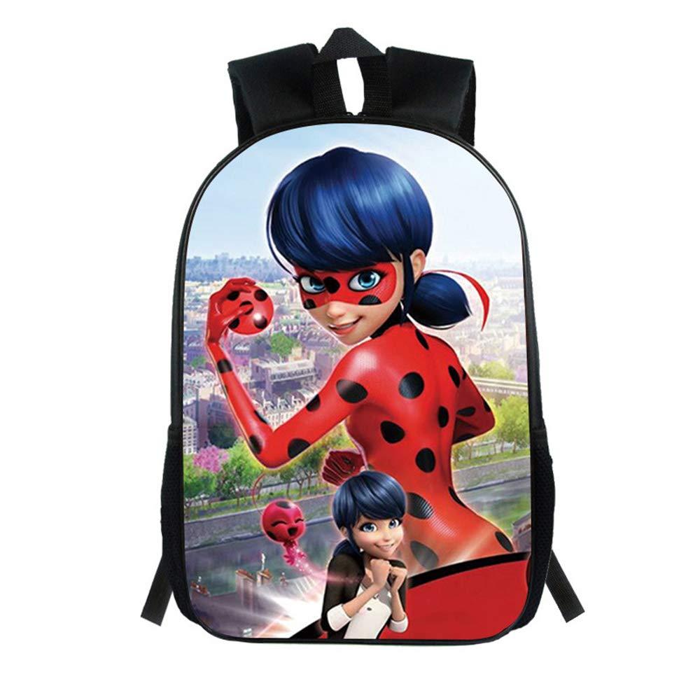 Dondonmin Miraculous Ladybug Mochila para Niños y Adolescentes Casual Mochilas de Colegio Viaje Impresión Mochilas Escolares Popular Mochila para Deportes ...
