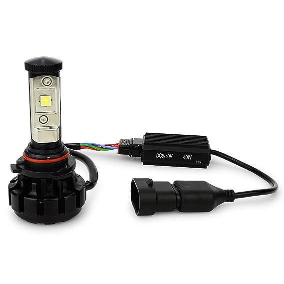 Todas las estaciones LED V18 CREE XHP-50 LED Faros Kit 80 W & 9600lm/Set, Xenon Blanco 6000 K: Amazon.es: Coche y moto