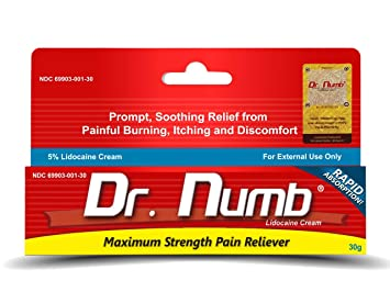 Amazon.com: 1 Tube of Dr. Numb Maximum Topical Anesthetic Anorectal ...
