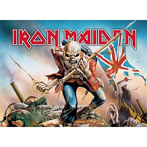 Iron Maiden Banners - Cyberteez Iron Maiden Trooper Tapestry Cloth Poster Flag Wall Banner 30