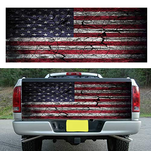 - xxiaoTHAWxe American Flag Car Auto Truck Tailgate Wrap Graphic Decal Sticker Accessory