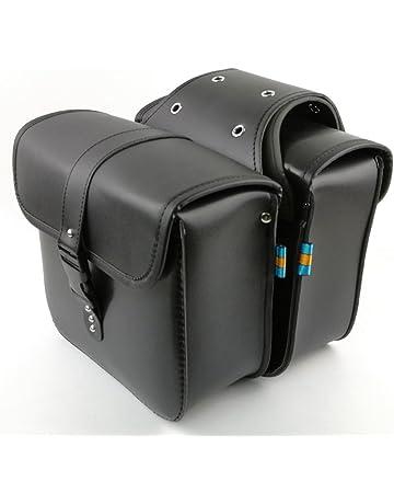 bd3d082f50c5 1 Pair Motorcycle Side Saddlebags PU Leather Waterproof Rear Seat Saddle  Bag Travel Tool Tail Luggage