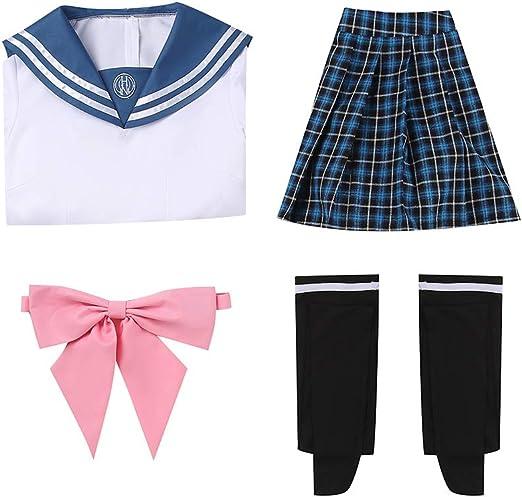Amazon.com: Cos-Love Danganronpa Sayaka Maizono Cosplay Outfit,Women Girl School Uniform Sailor Dress Costume: Clothing