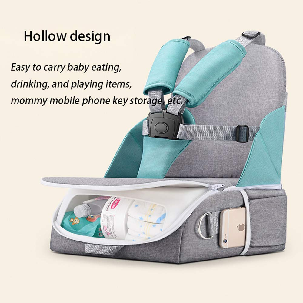 1e3f4248e232 Travel Booster Seat for Family and Toddler Dining, Multi-Function Folding  Baby Chair, 5-Point Seat...