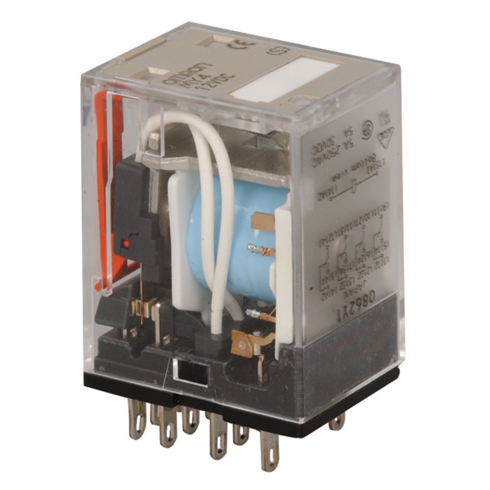 24 VDC//5 a with Relay Socket Finder Type 94.44.1 Relay by Omron Type my4
