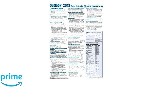 Microsoft Outlook 2013 Correo electrónico, Calendario, Personas, Tareas Guía de referencia rápida (Hoja de referencia con instrucciones, consejos y .