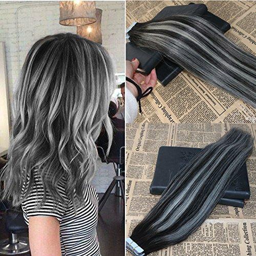 Amazon Com 16 20pcs 50g Human Hair Tape Extensions Ombre Color