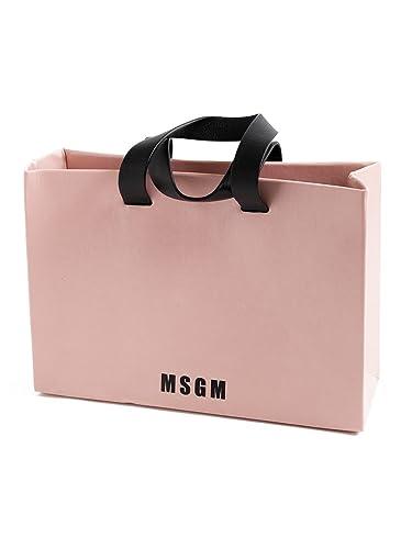 52e50f96d886 (エムエスジーエム) MSGM レザー ロゴ トートバッグ [MSL2341MDZ50X ] ピンク / - [