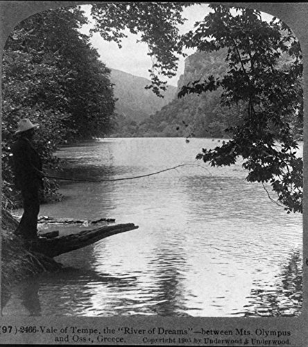 1905-photo-vale-of-tempe-the-river-of-dreams-between-mts-olympus-and-ossa-greece-man-on-bank-holding