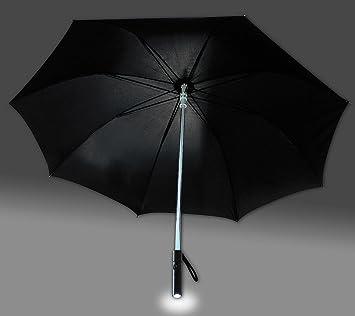 Paraguas XL con efécto de luz azul