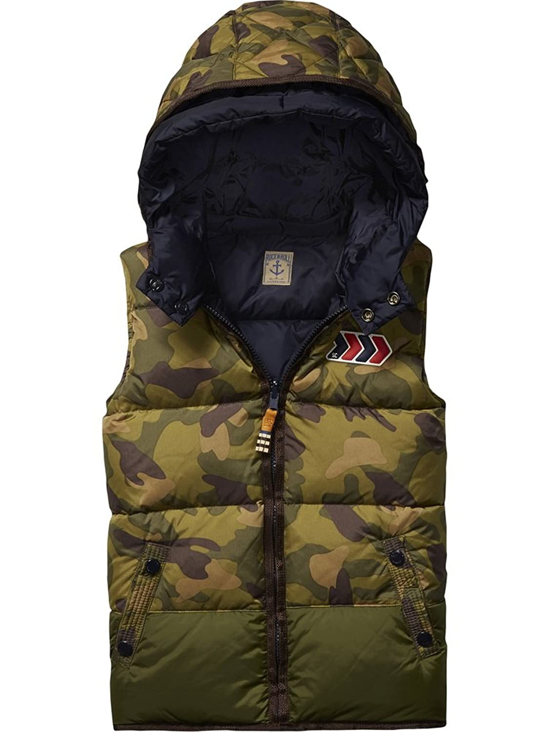 Scotch Shrunk Daunen Weste Bodywarmer reversible 101063 navy /camou