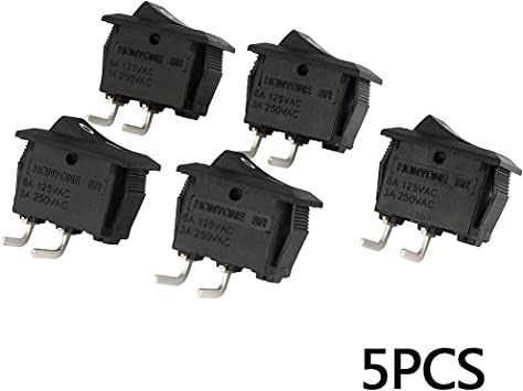 uxcell SPST ON-OFF 2 Position Toggle Switch 5 Pcs