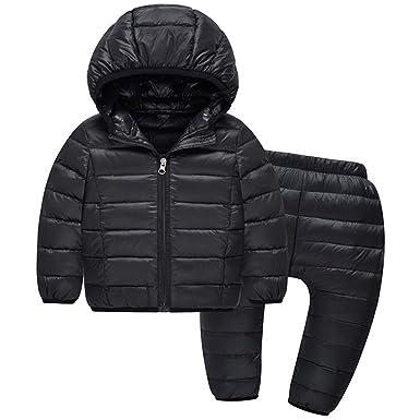 e3f844b0e Amazon.com  Kids Boys Girls Down Snowsuit - LSERVER Winter Warm ...