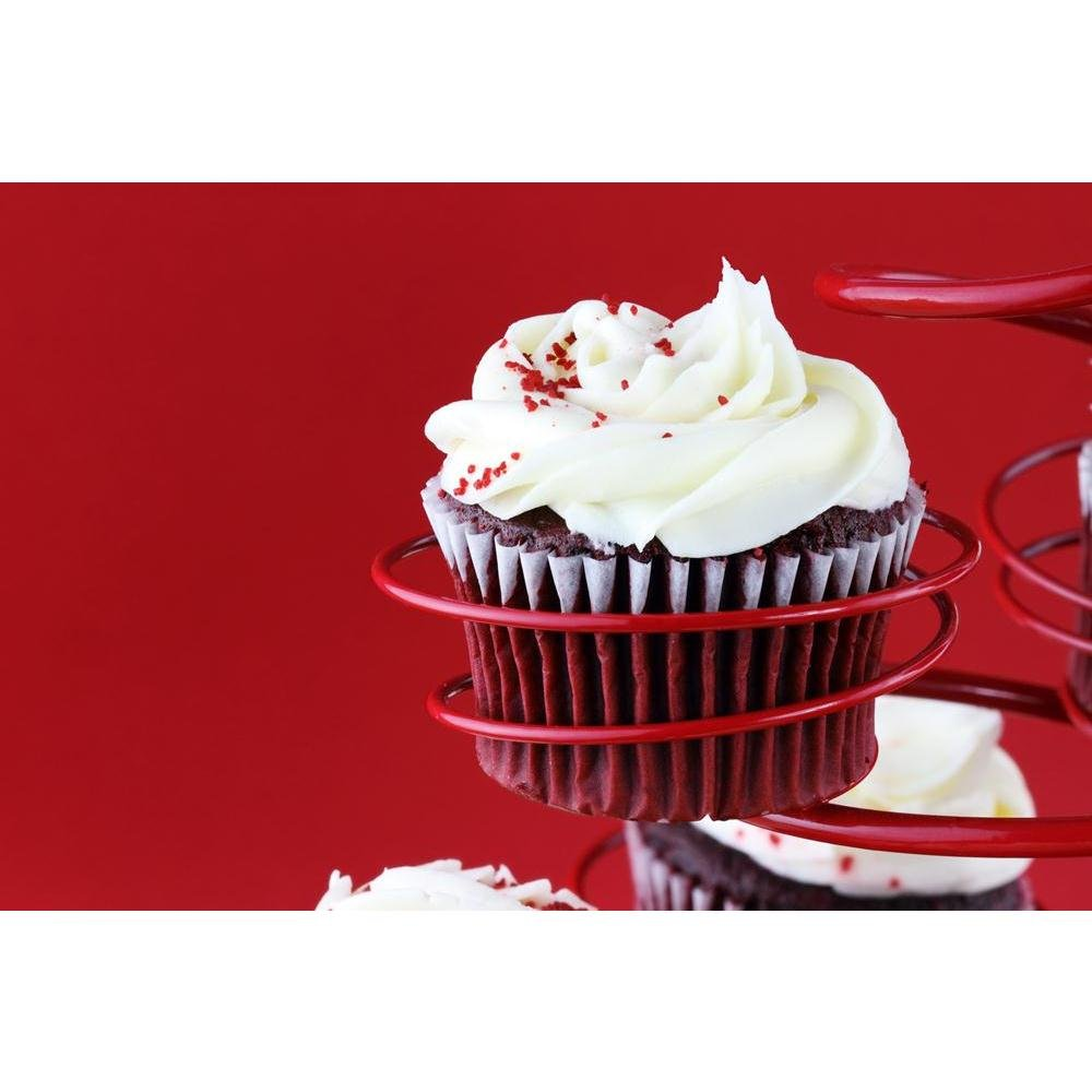 Pitaara Box Photo of Red Velvet Cupcake Unframed Canvas Painting 30 X 20Inch by Pitaara Box