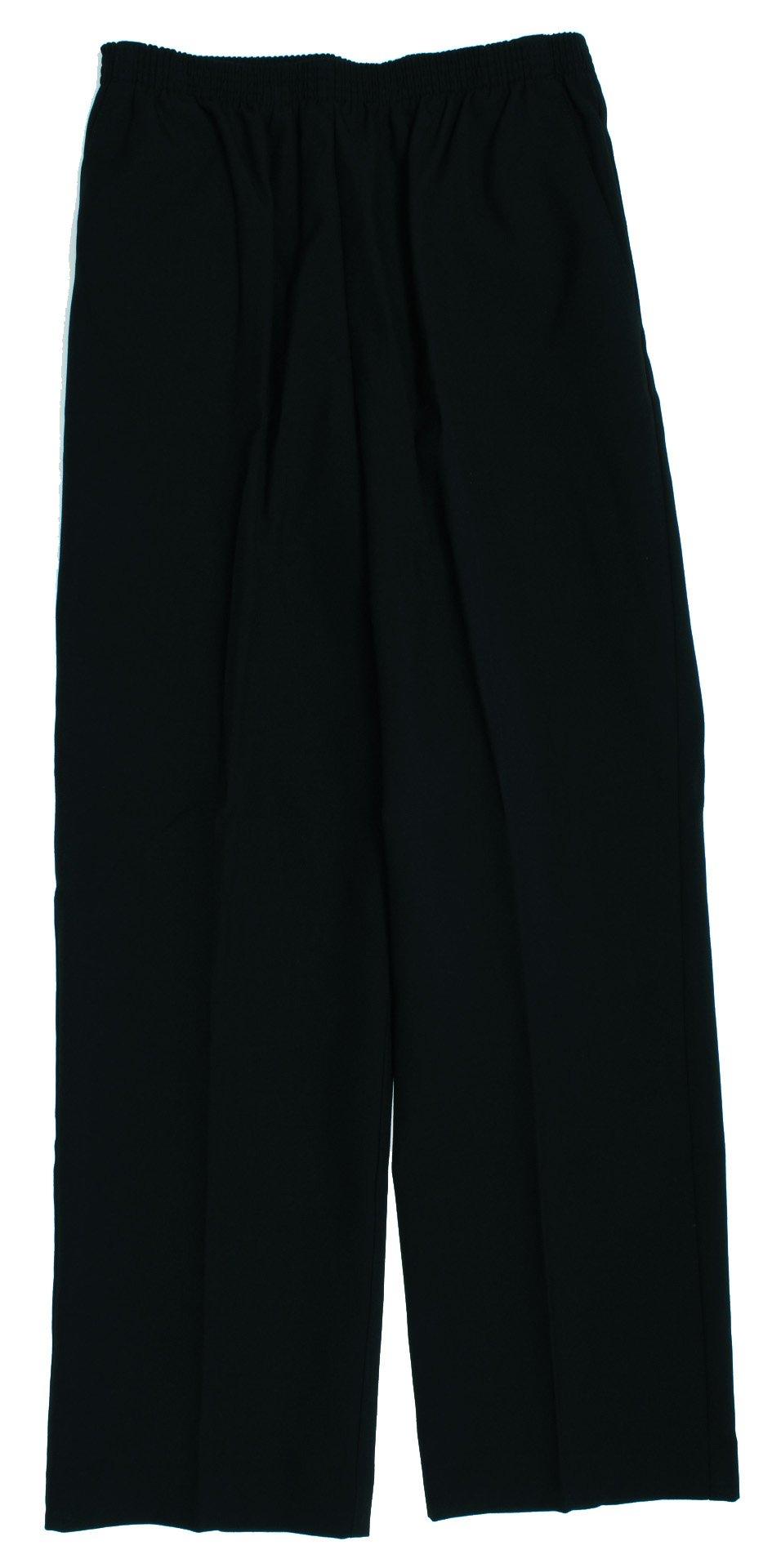 Alfred Dunner Classics Woven Elastic Waist Pants Black 8 M