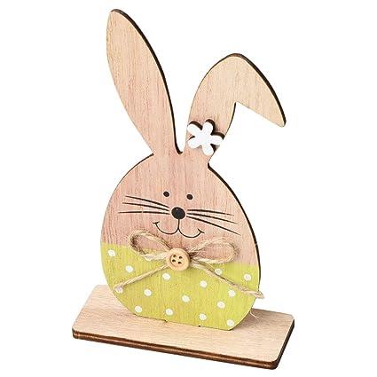 Amazoncom Vosarea Easter Rabbit Wooden Bunny Ornament 3d Cutouts