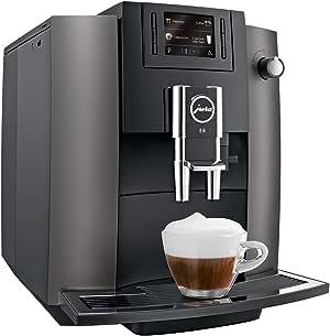 JURA E6 Independiente Máquina espresso Acero inoxidable 1,9 L 16 tazas Totalmente automática - Cafetera (Independiente, Máquina espresso, 1,9 L, Molinillo integrado, 1450 W, Acero inoxidable): Amazon.es: Hogar