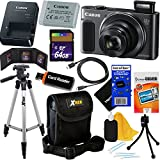 Canon PowerShot SX620 HS 20.2 MP Wi-Fi Digital Camera with 25x Optical Zoom & HD 1080p video (Black) International Version + 12pc 64GB Deluxe Accessory Kit w/HeroFiber Gentle Cleaning Cloth