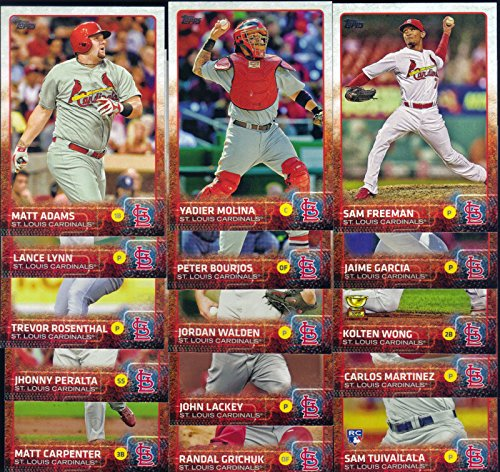 St. Louis Cardinals 2015 Topps MLB Baseball Regular Issue Complete Mint 22 Card Team Set with Yadier Molina, Adam Wainwright, Michael Wacha Plus