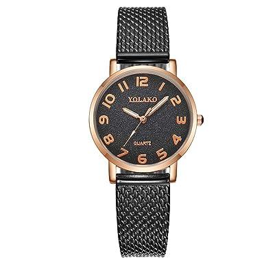 Mymyguoe Reloj Mujer Relojes Hombre Unisex Reloj de Pulsera Relojes de Pulsera para Hombres Reloj Mujer Moda Reloj analogico Correa de Acero de Moda Reloj: ...