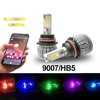 Amazon Beatto 9007 HB5 RGB LED Headlight Bulb Kit LED Headlight