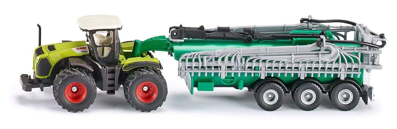 1:87 Absattelbar SIKU Class Xerion Traktor mit S/ämaschnine Gr/ün Abnehmbares Kabinendach 1826 Metall//Plastik /Öffenbare F/üllklappe an S/ämaschine