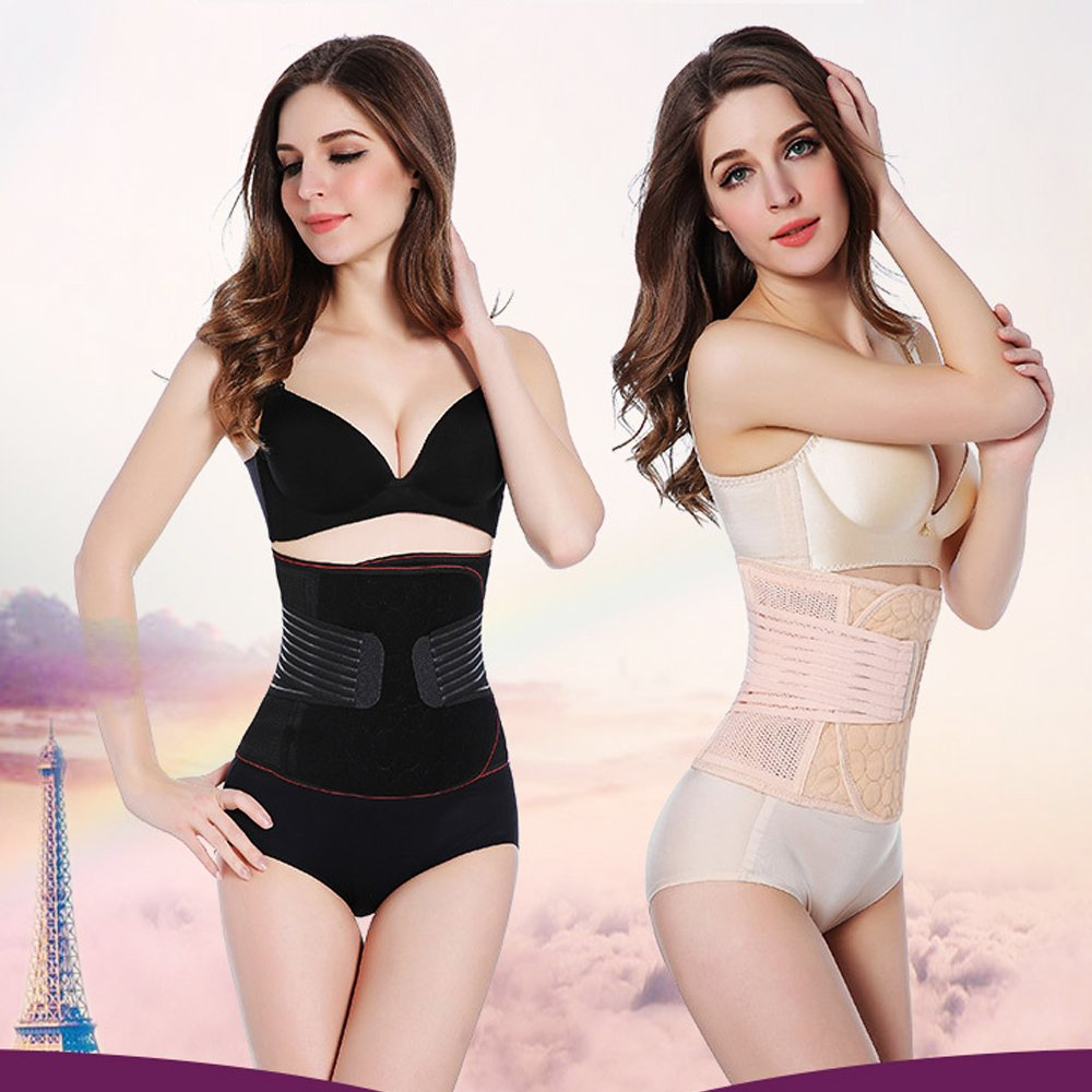 2482180c73 Amazon.com  Laweisi Women Postpartum Girdle Corset Recovery Belly Band Wrap  Belt  Sports   Outdoors