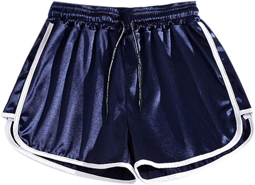 Women Casual Loose Short Pants Elastic Waist Summer Slim Lady Short Pants Teresamoon