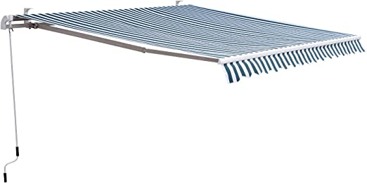 Outsunny Toldo Manual Plegable de Aluminio Ángulo Ajustable ...
