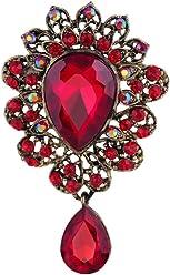 659c310e2 YAZILIND Fashion Lily Flower Inlaid Rhinestones Alloy Zirconia Pendant  Brooch Pin Women Girls Accessories