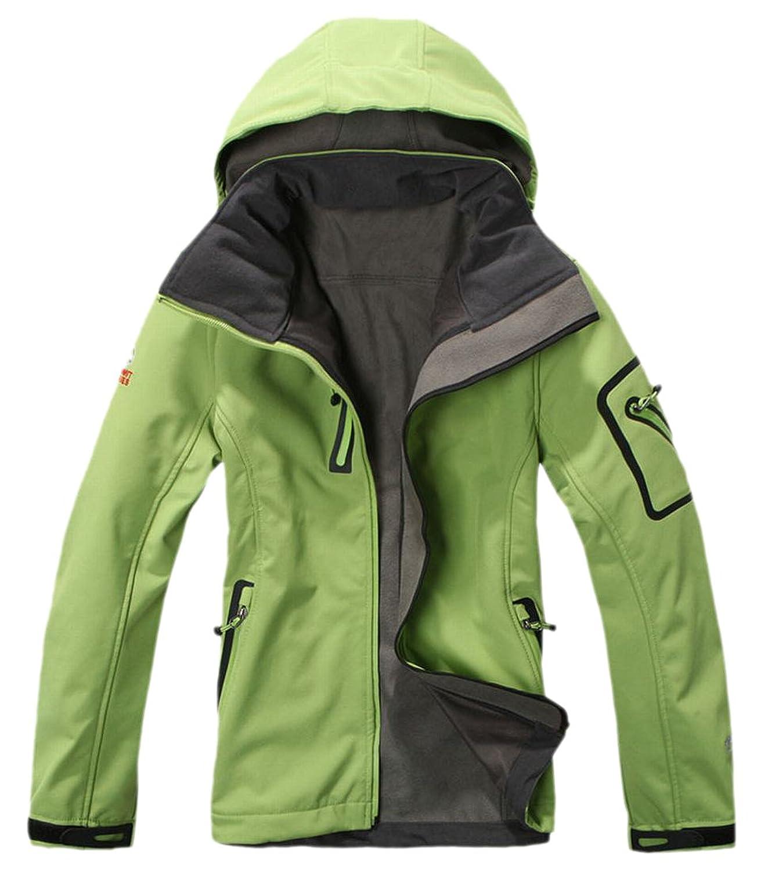 XQS Women's Windproof Warm Zip-Up Jacket Outdoorwear