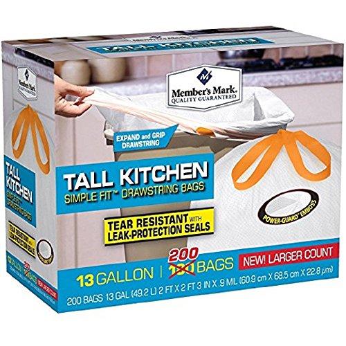 [해외]회원 마크 키 큰 주방 간단한 맞춤형 Drawstring 가방/Members Mark Tall Kitchen Simple Fit Drawstring Bags