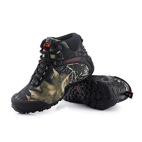 Scarpe da Trekking Outdoor da Uomo Camo Scarpe da Trekking Impermeabili di Alta Gamma Scarpe da Ginnastica di Grandi Dimensioni per Casual/da Viaggio (Color : B, Dimensione : 45)