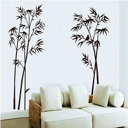 ufengke® bambù Nero Adesivi Murali, Camera da Letto Soggiorno Adesivi da  Parete Removibili/Stickers Murali/Decorazione Murale