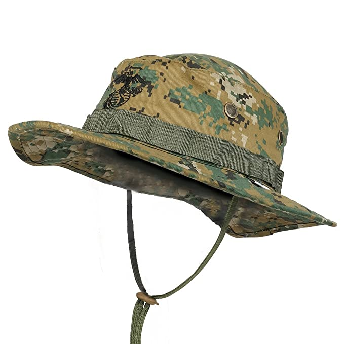 cc760c870b45e Trendy Apparel Shop Kid s Youth Size Camouflage boonie Cap With String Chin  Cord - Woodland  Amazon.in  Clothing   Accessories
