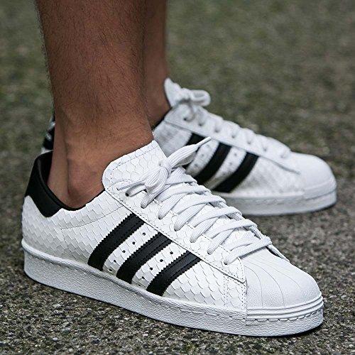 Adidas Originals Hombres Superstar 80s Entrenadores Vintage White Core Us12.5 Blanco