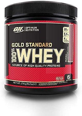 Optimum Nutrition Gold Standard Whey, Sabor Fresa - 176 gr