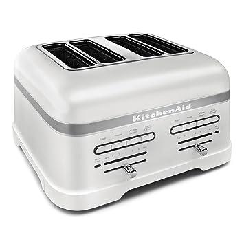 Amazon KitchenAid Pro Line Series Frosted Pearl White 4 Slice