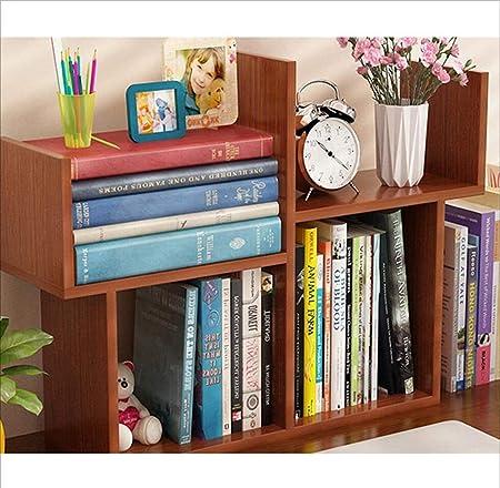 Pequeña Estantería Mesa Simple Mini Estante Simple Moderno Estudiante Librería Niños Escritorio Mesa De Comedor Almacenamiento,Lightwalnut: Amazon.es: Hogar