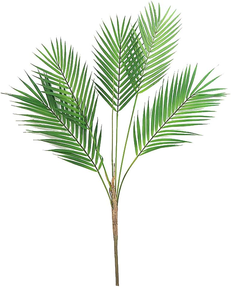 Amazon Com Palm Fronds Tropical Palm Leaves Artificial Palm Leaf Faux Leaves Greenery For Home Wedding Palm Sunday Hawaiian Leaves Decorations 32 3 Home Kitchen