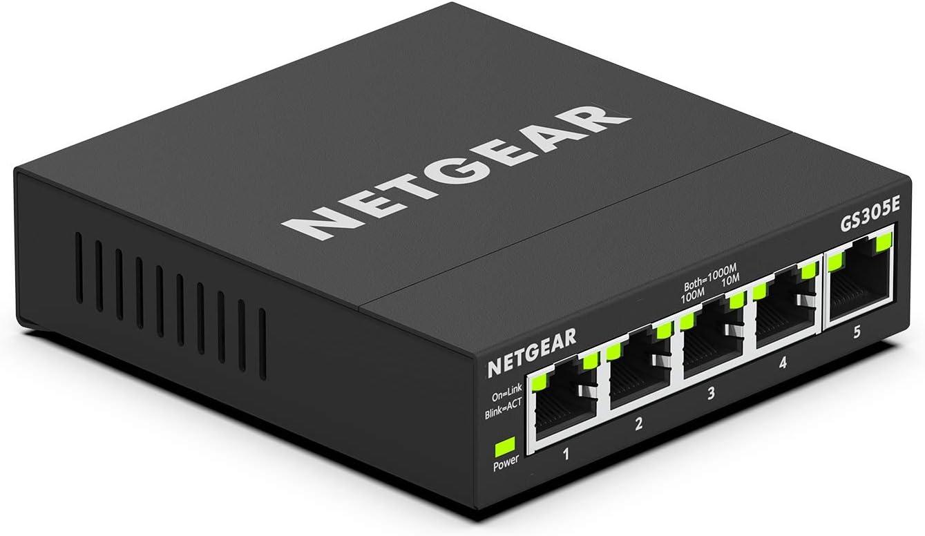 NETGEAR 5-Port Gigabit Smart Managed Plus Switch (GS305E)
