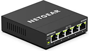 NETGEAR 5-Port Gigabit Smart Managed Plus Switch (GS305E)