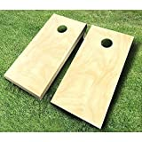Plain Unfinished Non-Painted CORNHOLE BOARDS SET Bean Bag Toss + 8 ACA Regulation Bags ~ MADE in the USA
