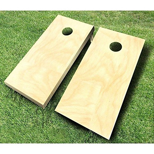 Plain Unfinished Non-Painted CORNHOLE BOARDS SET Bean Bag Toss + 8 ACA Regulation Bags ~ MADE in the USA by Buckeye Nation Sales