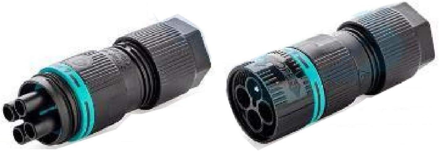 TECHNO KIT MINI-CON PLUG-SOCK 4P D6-13.5 SCW IP66 THB.387.A4A.L.R