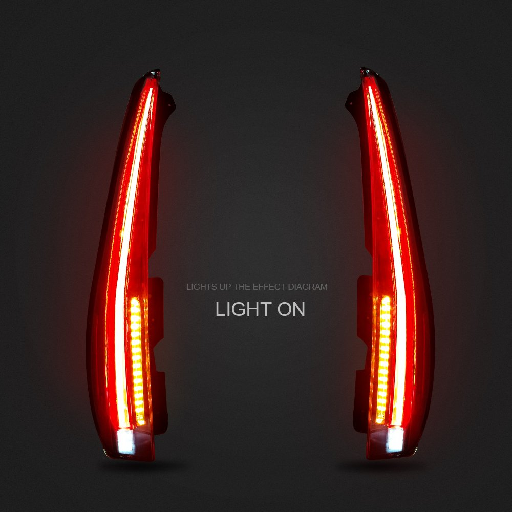 Amazon.com: MOSTPLUS LED Tail Lights Rear Lamp for 2007-2014 Chevy Tahoe Suburban GMC Yukon Denali Set of 2: Automotive