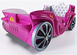 Kiddie Car Beds Princess Carriage Bed for Sale Pink Just Launced in The USA (Pink)