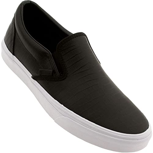 Vans Classic Slip-On CA, Croc Leather Black, 13: Amazon.co.uk: Shoes ...