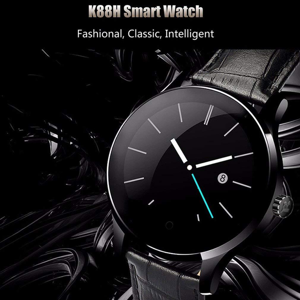 Sunnyday K88H Smart Watch Tracker Bluetooth Reloj de Pulsera Deportivo podómetro para Android iOS