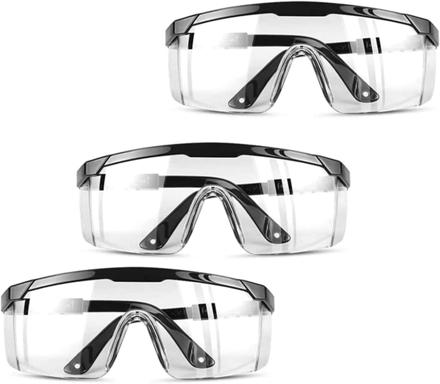 1-50 PCS Safety Goggles Eye Protection Anti Fog Clear Vent Protective Glasses